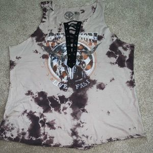Affliction live fast tank top